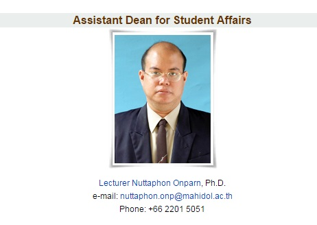 Assistant Dean for Student Affairs