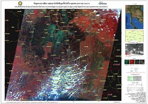 ภาพถ่ายดาวเทียม น้ำท่วม 2554 (4/6)