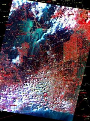 ภาพถ่ายดาวเทียม น้ำท่วม 2554 (5/6)