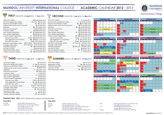 MUIC_Academic_Calendar_2013